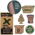 Recycled Cardboard Magnets